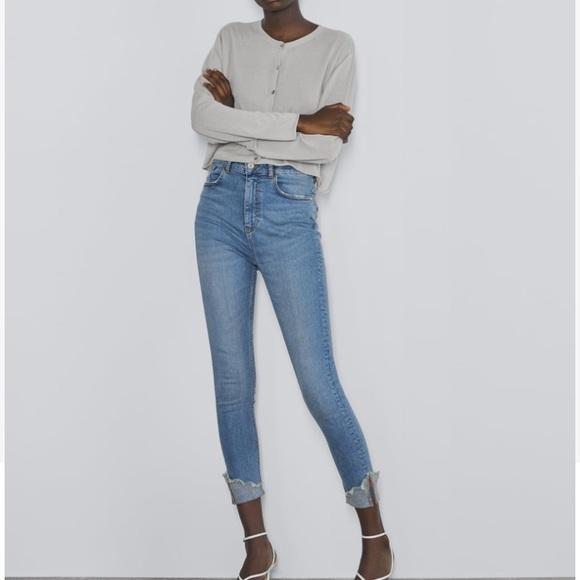 Zara Denim - NWT Zara cuffed skinny jeans
